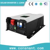 격자 태양 변환장치 3-12kw 떨어져 단일 위상 48VDC 230VAC 잡종