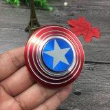 Капитан Америки Handspinner творческих металлические Fidget вращателя