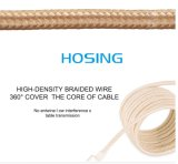 O mais rapidamente cabo de alumínio de nylon trançado do USB do carregador dos dados de 1m para o iPhone 7 7plus