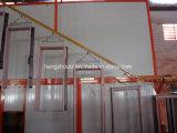 Transportador de sobrecarga de recubrimiento de polvo de la línea de producción