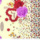 la stampa Pigment&Disperse del leopardo di 100%Polyester Rosa ha stampato il tessuto per l'insieme dell'assestamento