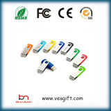 Best-seller lecteur Flash USB pivotant en plastique gadget Logo Pendrive