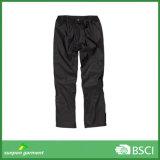 Pantaloni neri della pioggia del ODM e dell'OEM