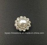 Rhinestone vendedor caliente del cristal de 9m m en la costura en la perla con el Rhinestone de la configuración de la garra (cristal redondo de la perla de TP-9mm)