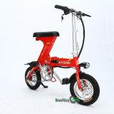 Bici eléctrica del mini plegamiento del color rojo 36V