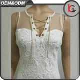 熱い販売法のレースの女性の夏の服の方法金属の宝石類が付いている新しい到着のふさの服