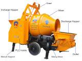 Pompe concrète de pétrole de Kawasaki remorque portative principale de pompe de mini avec le mélangeur de tambour