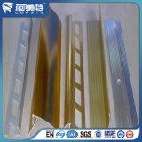 Fournisseur d'usine Gold / Escalier en aluminium anodisé de couleur argent nez/Garniture de tuiles