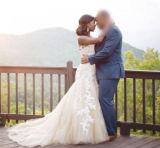 Applique über Nixe-Hochzeits-Kleid W1471944 Champagne-Tulle Sleeveless