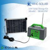 Sistema de iluminação verde solar do mini tamanho 10W portátil