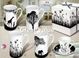 2017 neufs ont personnalisé la tasse de café en céramique blanche, cuvette de café de porcelaine