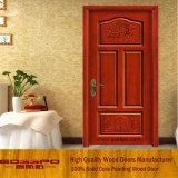 Двери твердого Teak деревянные самомоднейшие высекая (GSP2-031)