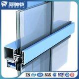 Perfil de parede de cortina de alumínio para projeto de fachada de vidro de construção