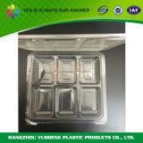 正方形の明確なプラスチック食糧容器