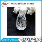 3D Laser die van de Graveur van de Laser van de Foto van het Glas van het Kristal Groene Machine merkt