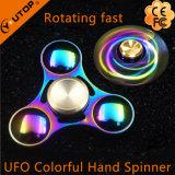 金属の多彩な虹手の紡績工指の紡績工