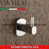 Diseño de la protección de la placa de latón cromado Robe Gancho de accesorios de baño