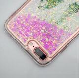caso protector del iPhone 6s del fluido 3D con brillos brillantes