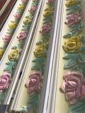 Deligate Rose que talla la corona de la cornisa de la PU que moldea para la decoración de la pared del techo