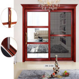 Portes en partie double en aluminium étrangères de Windows arquées par Lowes de profil