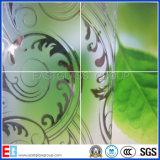 3-8mm claire et Bronze Acid Etched Patterned en verre avec CE & ISO9001