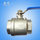 304 acero inoxidable 2PC bola Valvedn50