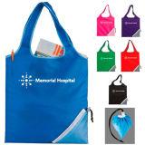 Bolsa de compras de plegado, bolsa de regalo, doble bolsa, bolsa de poliéster, nylon bolsa, bolsa, bolsa de promocionales baratos
