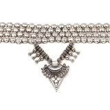 Il metallo 2017 di personalità borda il triangolo Chain e la collana Exaggerated