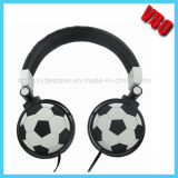 Cuffia stereo dell'in-Orecchio creativo con il disegno di gioco del calcio (VB-2002D)