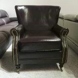 Cadeira de clube, cadeira de couro, sofá, cadeira do hotel, cadeira da barra do charuto (A888)