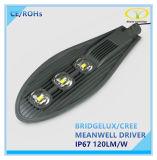 Luz de calle del LED 120W IP66 con el certificado de RoHS del Ce