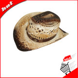 Chapéu de cowboy, chapéu de palha, chapéu de papel torcido, chapéu de cowboy de papel
