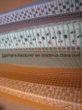 메시를 가진 창턱 단면도의 밑에 PVC 코너 구슬