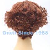 Peluca corta ondulada del pelo europeo para las mujeres