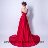 Robe de soirée élégante la robe d'usager formelle de banquet de satin de mariée