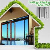 Portelli di piegatura di alluminio di legno solido di disegno moderno del fornitore della Cina, bei portelli di piegatura di vetro in maniera fidata