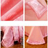 サテンの綿のパッチワークの羽毛布団カバーセット
