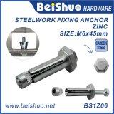 Verzinkte Hex Kopf-Kasten-Dynamicdehnungs-Schrauben für Stahlwerk