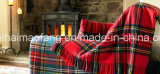 Plaid tessuto Mixed 50%Wool&50%Acrylic Wool Blend Blankets& Throws