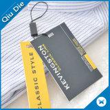 Tag rústico do cair do papel do cartão da tira do Tag do logotipo da marca para a camisa dos homens