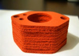 1-50mm X 1-1.5m X 1-20m Folha de borracha de esponja de silicone, folha de borracha de espuma de silicone com esponja de silicone de célula fechada, 10-30shore a, 0.5-1.0g / cm3