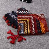 Sciarpa di grande misura dello scialle del poncio del poliestere del cotone di Pashmina di stampa variopinta nazionale di stile