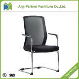 シンプルな設計の固定高さの黒の網のシートのオフィスの椅子(Myra)