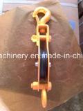 Блок Snatch раковины Sheave пластмассы или чугуна силы Coated двойной