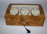 Bobinier automatique en bois de montre de la laque 6+7 à haute brillance