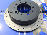Furos perfurados e linhas entalhadas disco do freio