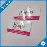marcas de fábrica famosas de la etiqueta blanca de la cartulina 300g para la tarjeta de los asuntos privados