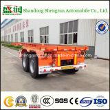 Shengrun Semi Aanhangwagen van de Container van de As van 20 voet de Dubbele Flatbed
