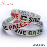 Bracelete de borracha de moda plana Emirados Árabes Unidos / pulseira de punho