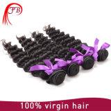 Começ a cabelo profundo agradável do Virgin da onda a classe 7A barata em linha onda profunda preço de fábrica peruano do cabelo do Virgin